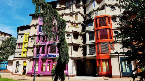 Дома квартала Les Grottes в Женеве