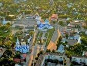 Центр Малоярославля с высоты птичьего полёта