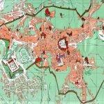Карта Сиены с улицами и нумерацией домов