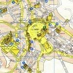 Карта центрального района Сиены вокруг площади Кампо