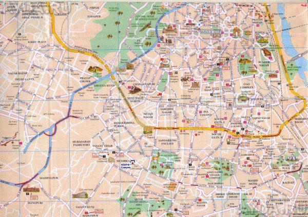 Карта Дели