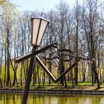 Живые фонари в Лопатинском саду: скрипач