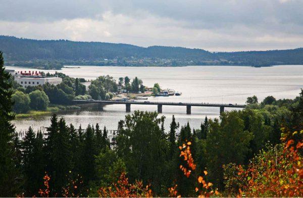 Карельский мост и залив Ляппяярви