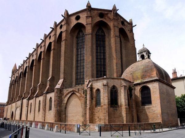 Здание Доминиканской церкви в Тулузе