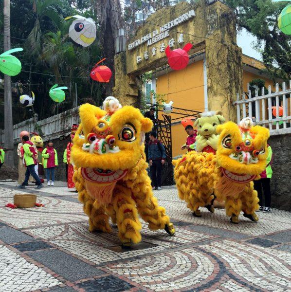 Танцы львов в Макао