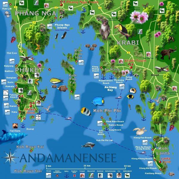 Туристическая карта Краби