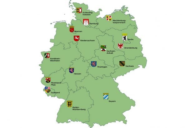 Карта федеральных земель Германии