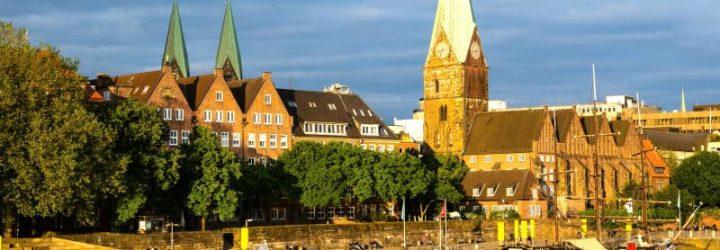 Старинный немецкий город Бремен