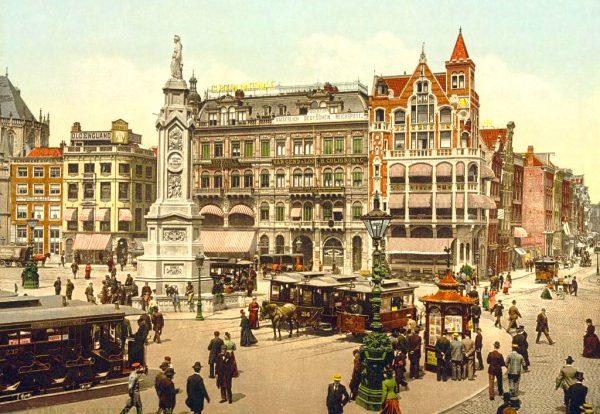 Улица Амстердама в 17 веке