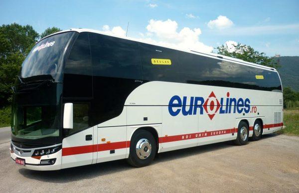 Туристический автобус компании Евролайнс