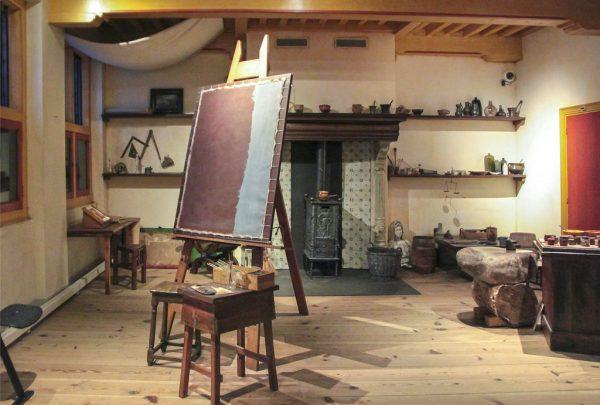 Интерьер мастерской Рембрандта в музее