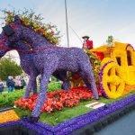 Скульптура из живых цветов