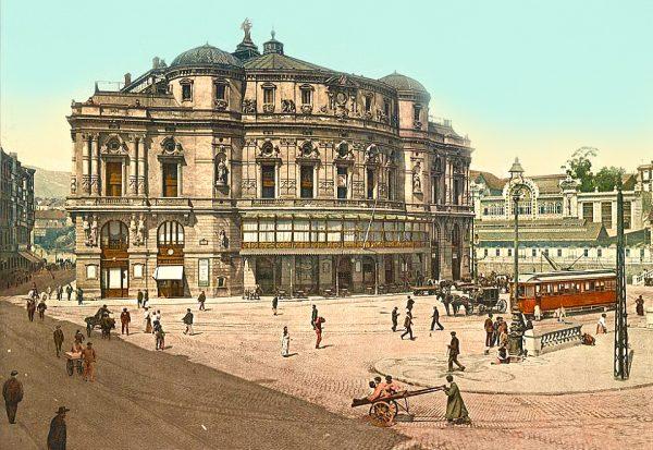 Площадь перед зданием ратуши в XVIII веке
