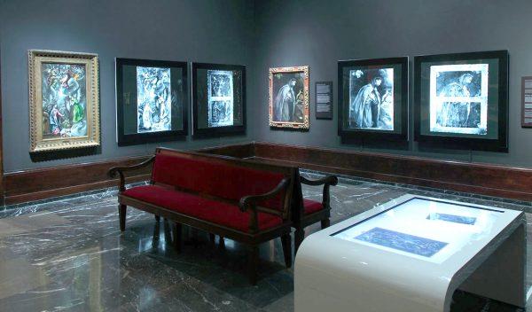 Картины на стенах музея изящных искусств в Бильбао