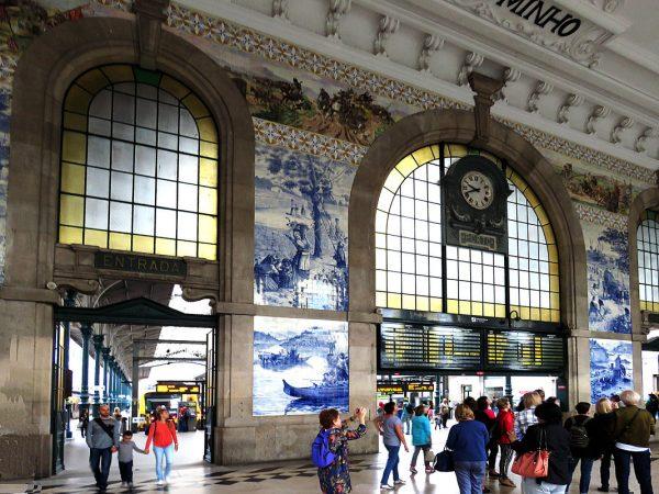 Вокзал Сан-Бенту в Порту внутри