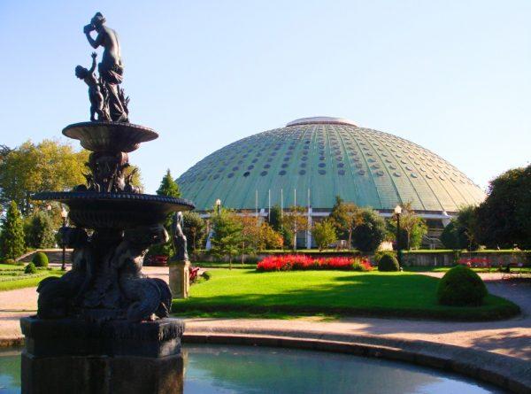 Ландшафт Парка хрустального дворца в Порту