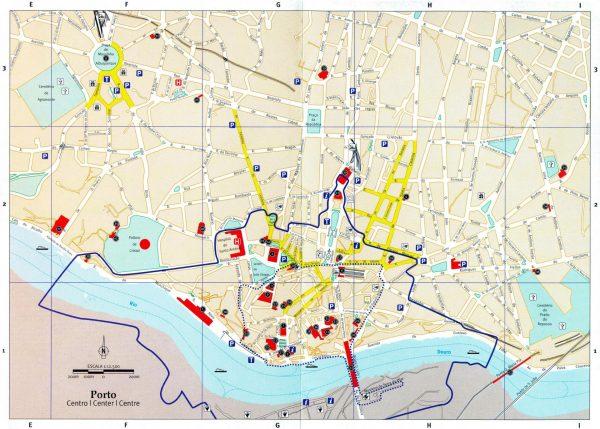 Туристическая карта Порту