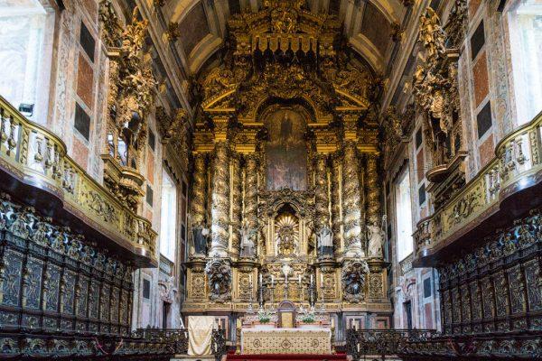 Алтарь капеллы Кафедрального собора Порту