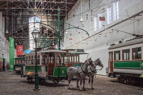 Конка в музее трамваев Порту