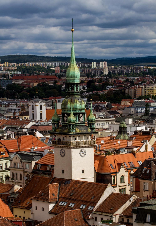 Обои поля, Облака, сверху, Zlechov, дома, чехия. Города foto 11