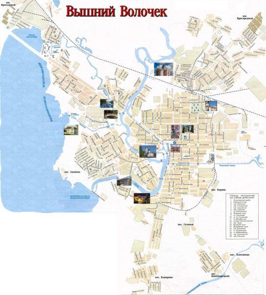 Туристическая карта Вышнего Волочка