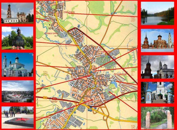 Туристическая карта Волоколамска