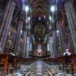 Миланский собор: вид изнутри