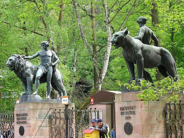 Скульптуры в Нюрнбергском зоопарке