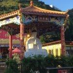 Статуя основателя монастыря 10 тысяч Будд в Гонконге