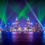 Симфония огней на набережной Гонконга