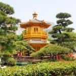 Вид на башню в саду Нан Лиан