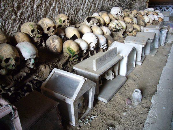 Останки в склепе Фонтанелле