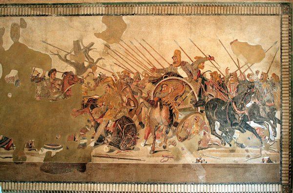 Мозаика «Битва Александра Македонского с Дарием»