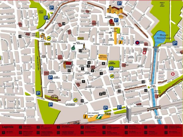 Туристическая карта Неаполя