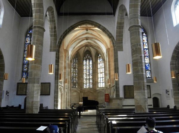 Церковь Святой Марты в Нюрнберге изнутри