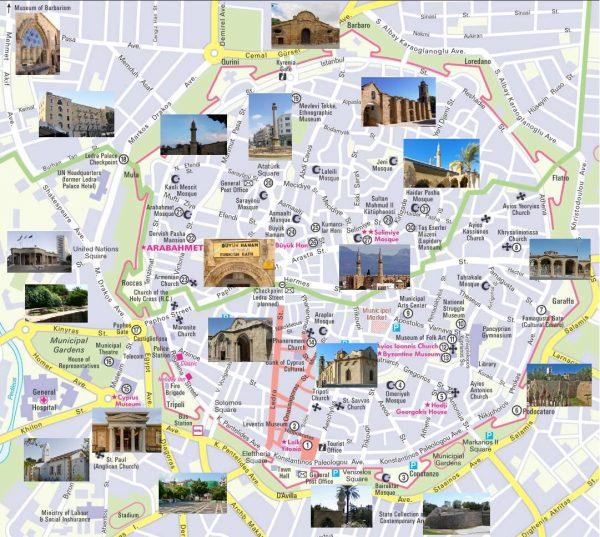 Туристическая карта Никосии