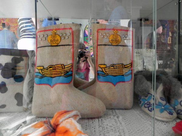 Валенки в музее «Русские валенки»
