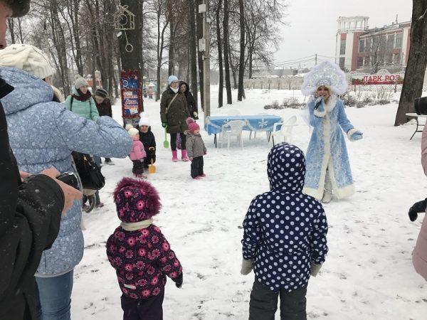 Новогодний праздник в городском парке Вышнего Волочка