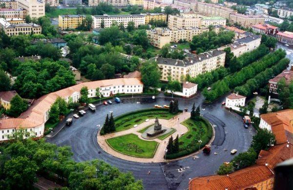 Площадь Ленина в Петрозаводске