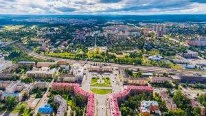 Петрозаводск с высоты птичьего полёта