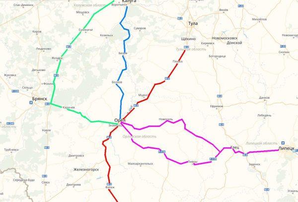 Схема проезда к Орлу
