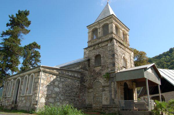 Команский монастырь в Абхазии