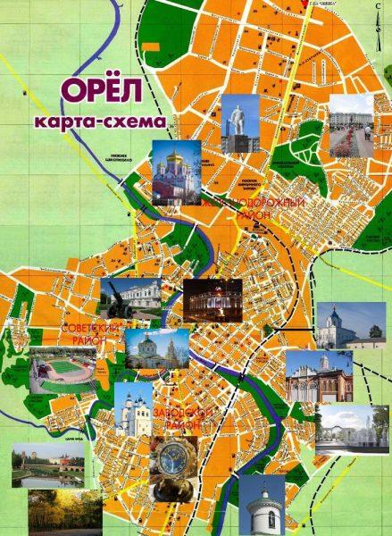 Туристическая карта Орла