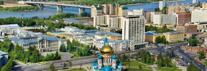 Омск, вид на город сверху
