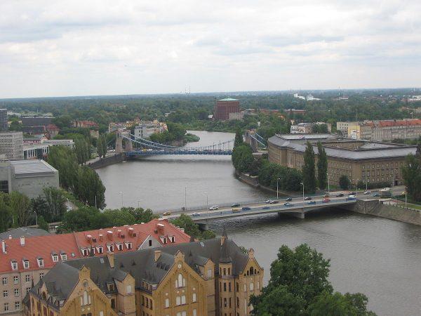 Вид на мост Вроцлава