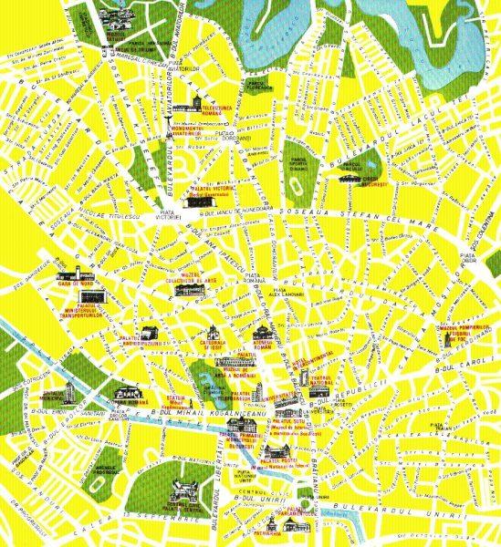 Туристическая карта Бухареста