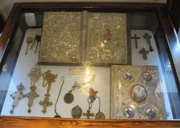 Церковные реликвии в музее Теотоку