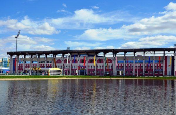 Пруд на стадионе «Старт» в Саранске
