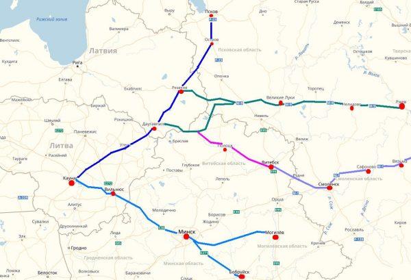 Схема проезда в Каунас