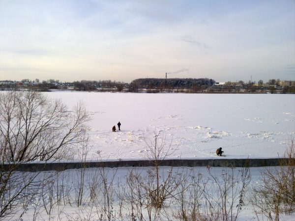 Зимняя Волга в Кимрах